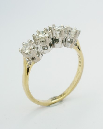 Original 4 stone diamond ring to be remodelled.