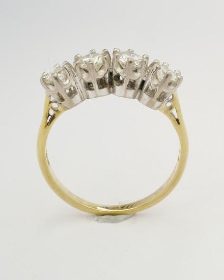 Original 4 stone diamond ring to be remodelled.