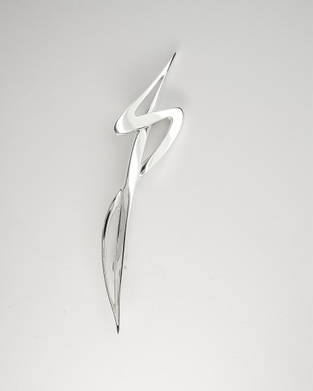 Sterling silver initial kilt pin (JST).