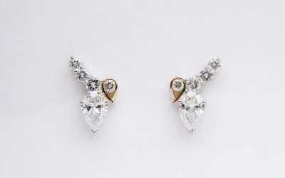halo watches shape pear studs product tdw stud vintage jewelry auriya earrings shaped diamond gold white