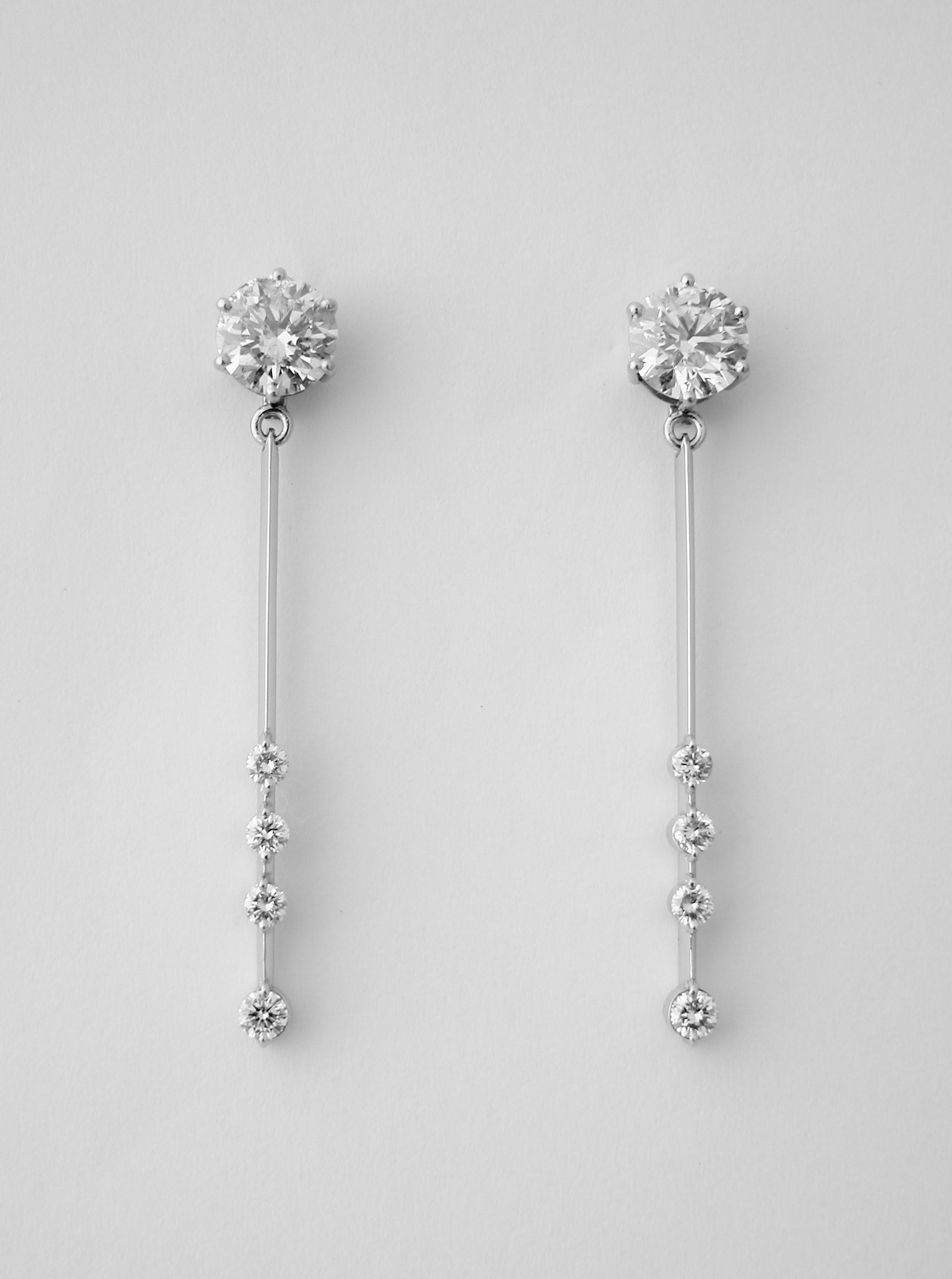 Pear Tanzanite Pendulum Earrings