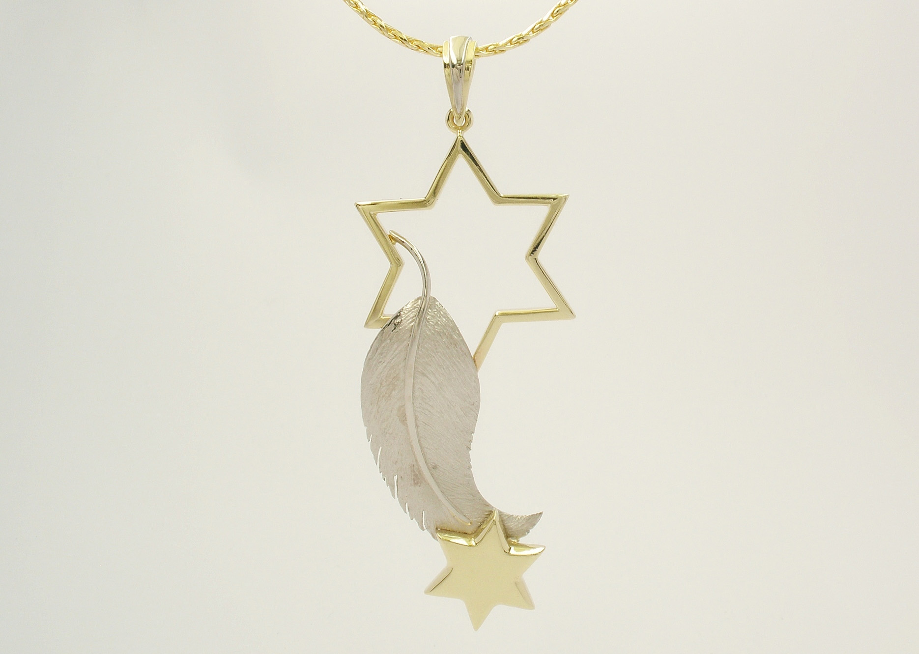 Maureen Cooper's Star & Feather Pendant by Alan P Fulton