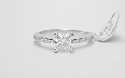 Platinum mounted 1ct Tulip cut diamond ring with diamond shoulders. Was £12,300 Then £6,630 (NOW £5,990 until 30th December!)