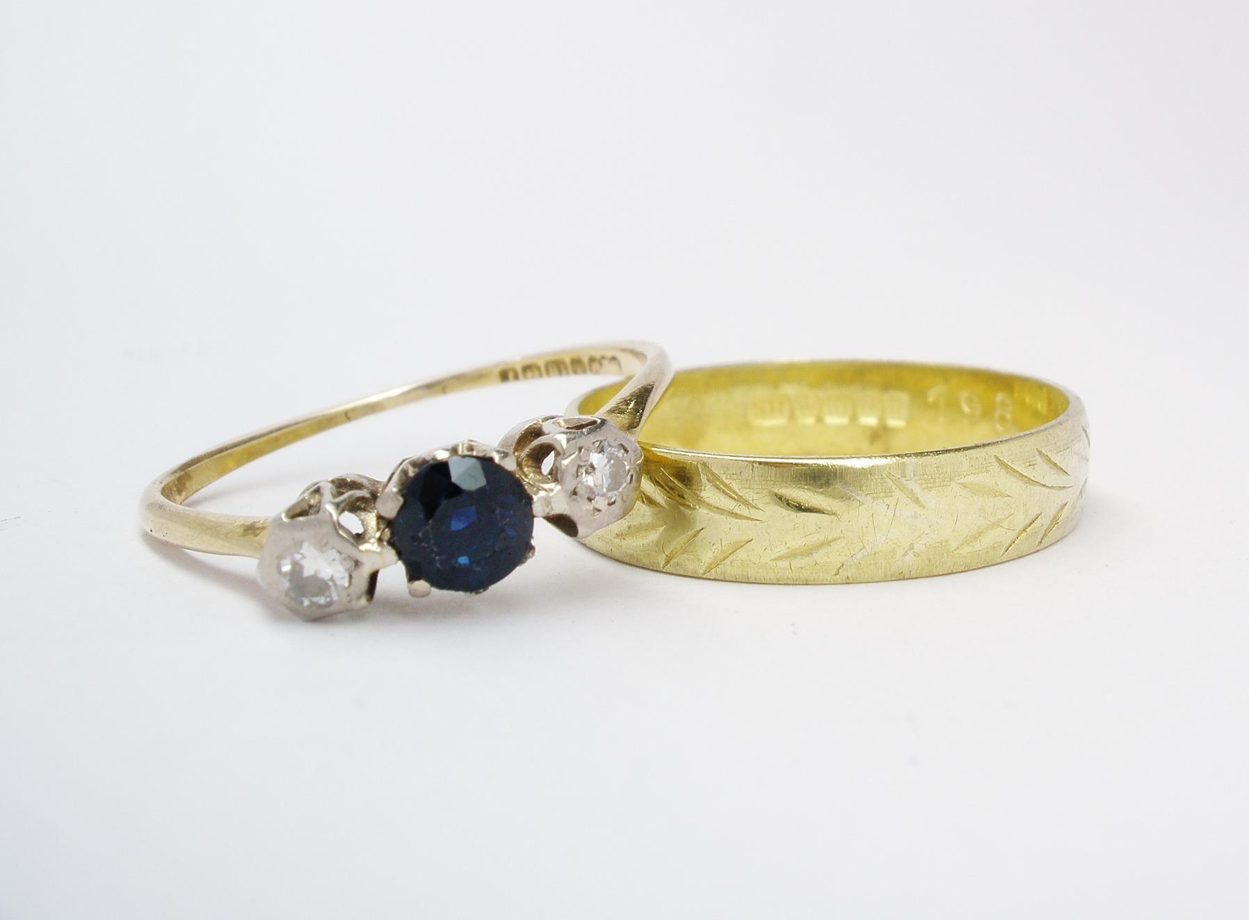 Deceased mother's engagement & wedding rings