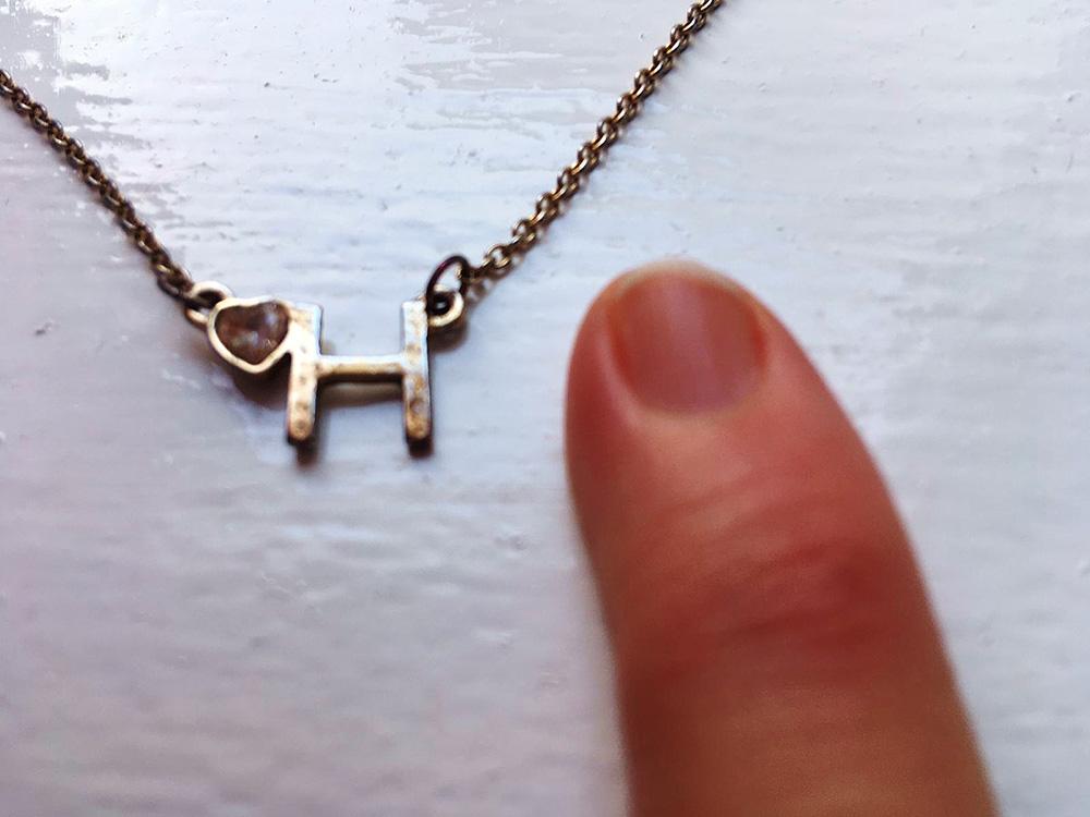 Gold H Pendant